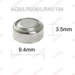 PILE BOUTON LR45/AG9 1.5V